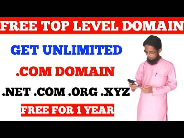 .COM Domain Free For 1 Year Get Ant TLD Domain Free For 1 Year 2021