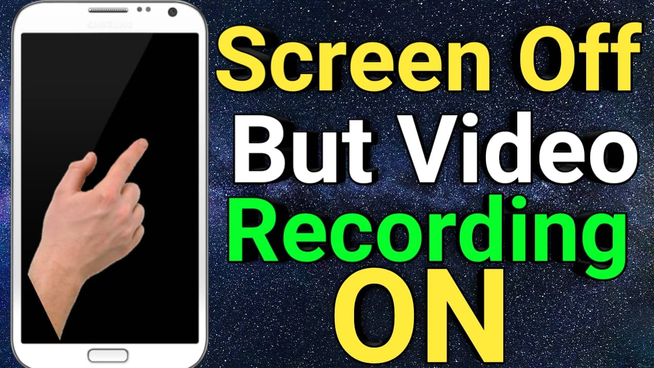 Screen Off करके Video Record कैसे करें   Easy video recorder App 2021